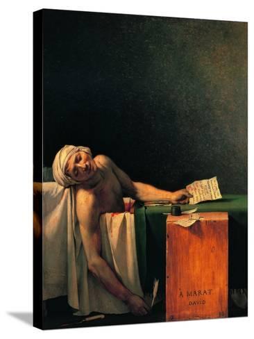 Death of Marat-Jacques-Louis David-Stretched Canvas Print