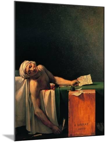 Death of Marat-Jacques-Louis David-Mounted Art Print