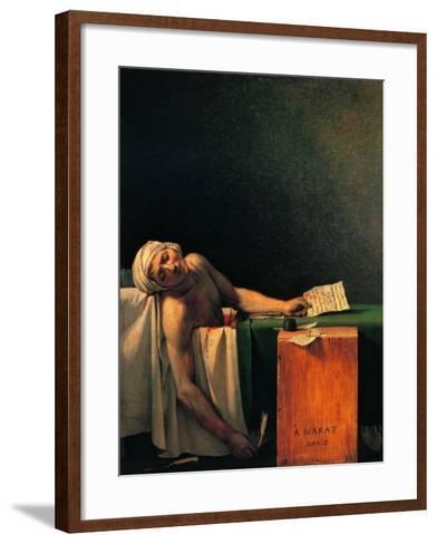 Death of Marat-Jacques-Louis David-Framed Art Print
