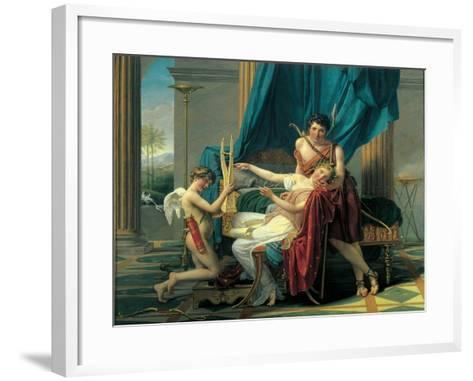 Sappho and Phaon-Jacques-Louis David-Framed Art Print