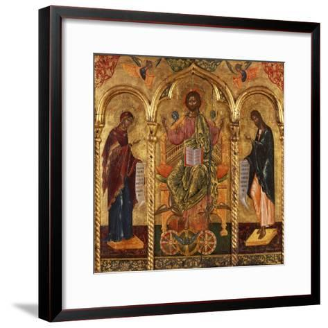 Christ Pantocrator, Virgin and St. John-Onufri Qiprioti-Framed Art Print