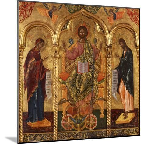 Christ Pantocrator, Virgin and St. John-Onufri Qiprioti-Mounted Art Print