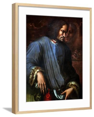 Lorenzo De Medici-Giorgio Vasari-Framed Art Print