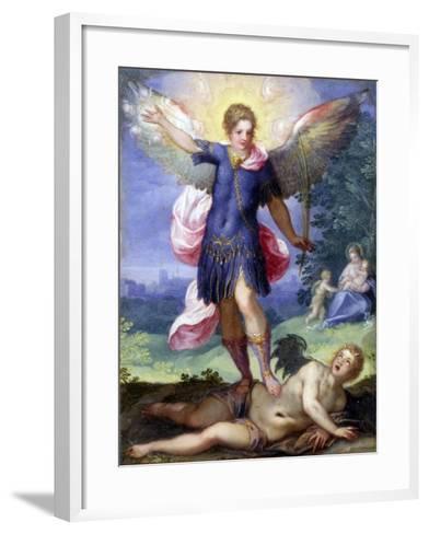 Archangel Michael Tramples the Devil-Hans Johann Rottenhammer-Framed Art Print