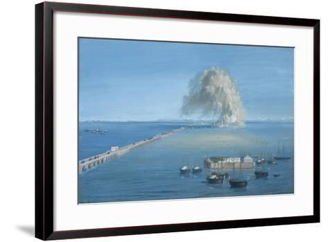 Explosion of a Mine in San Giuliano-Luigi Querena-Framed Art Print