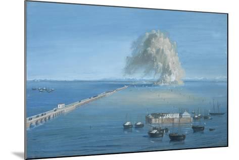 Explosion of a Mine in San Giuliano-Luigi Querena-Mounted Art Print