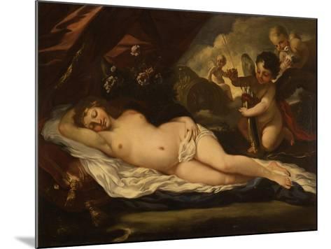 Venus with Putti, Attributed to Pietro Liberi, 1780-1799-Pietro Liberi-Mounted Art Print