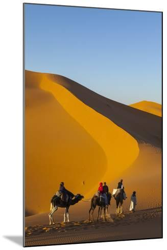 Tourists on Camel Safari, Sahara Desert, Merzouga, Morocco, North Africa, Africa-Doug Pearson-Mounted Photographic Print