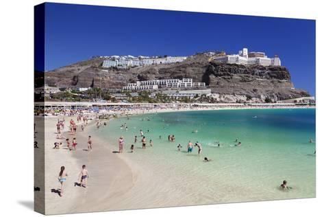 Playa De Los Amadores, Gran Canaria, Canary Islands, Spain, Atlantic, Europe-Markus Lange-Stretched Canvas Print