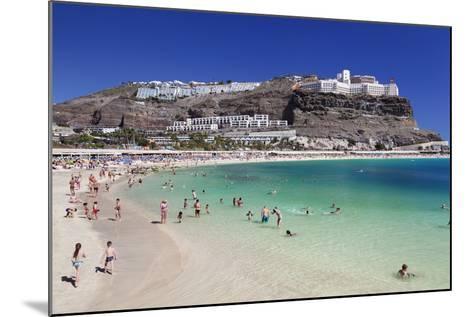 Playa De Los Amadores, Gran Canaria, Canary Islands, Spain, Atlantic, Europe-Markus Lange-Mounted Photographic Print
