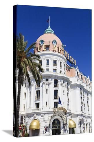 Hotel Negresco, Promenade Des Anglais, Nice-Amanda Hall-Stretched Canvas Print