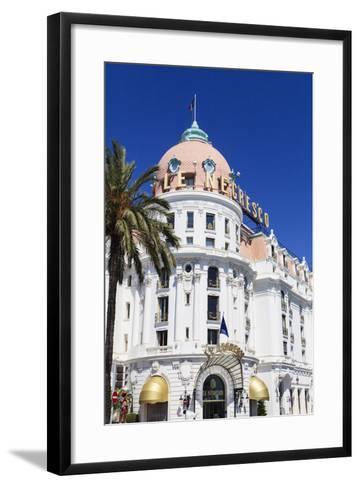 Hotel Negresco, Promenade Des Anglais, Nice-Amanda Hall-Framed Art Print