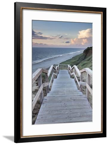 Red Cliff, Kampen, Sylt, North Frisian Islands, Nordfriesland, Schleswig Holstein, Germany, Europe-Markus Lange-Framed Art Print