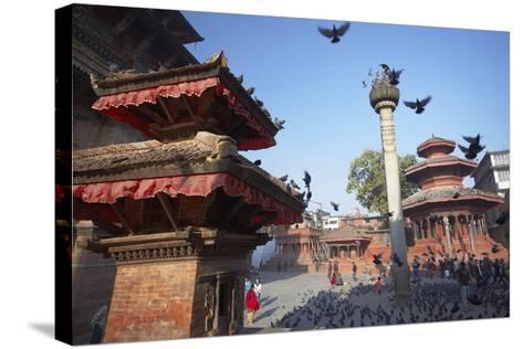Durbar Square, UNESCO World Heritage Site, Kathmandu, Nepal, Asia-Ian Trower-Stretched Canvas Print