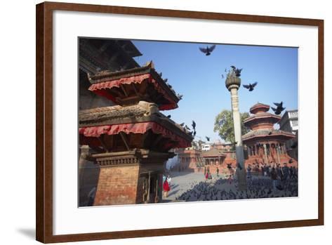 Durbar Square, UNESCO World Heritage Site, Kathmandu, Nepal, Asia-Ian Trower-Framed Art Print