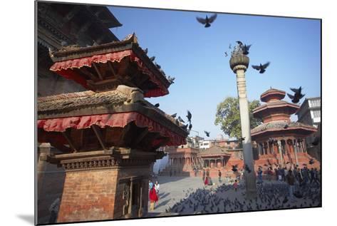 Durbar Square, UNESCO World Heritage Site, Kathmandu, Nepal, Asia-Ian Trower-Mounted Photographic Print
