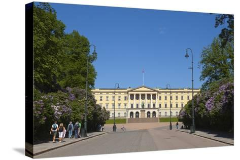 Royal Palace (Slottet), Oslo, Norway, Scandinavia, Europe-Doug Pearson-Stretched Canvas Print