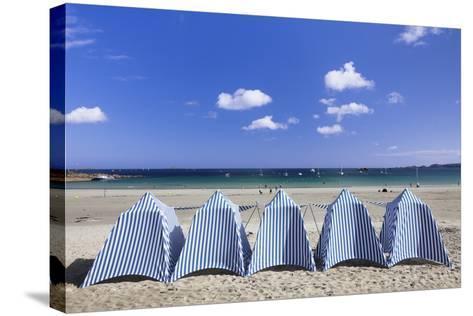 Beach of Perros Guirec, Cote De Granit Rose, Cotes D'Armor, Brittany, France, Europe-Markus Lange-Stretched Canvas Print