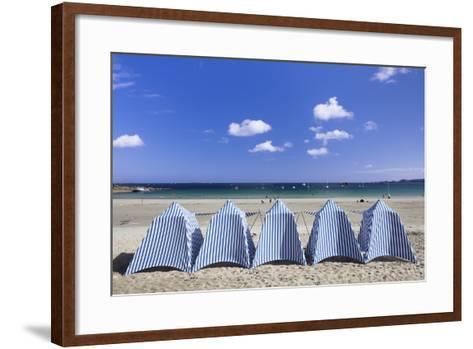 Beach of Perros Guirec, Cote De Granit Rose, Cotes D'Armor, Brittany, France, Europe-Markus Lange-Framed Art Print
