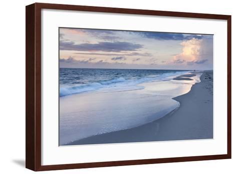 Sunset at the Beach of Kampen, Sylt Island, Schleswig Holstein, Germany, Europe-Markus Lange-Framed Art Print