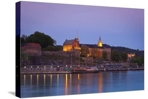 Akershus Fortress and Harbour, Oslo, Norway, Scandinavia, Europe-Doug Pearson-Stretched Canvas Print