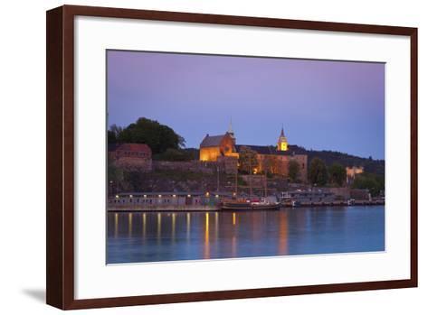 Akershus Fortress and Harbour, Oslo, Norway, Scandinavia, Europe-Doug Pearson-Framed Art Print