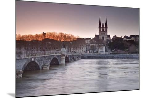 The Maine River Flowing Through the City of Angers-Julian Elliott-Mounted Photographic Print