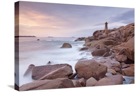 Lighthouse of Meen Ruz, Ploumanach, Cote De Granit Rose, Cotes D'Armor, Brittany, France, Europe-Markus Lange-Stretched Canvas Print