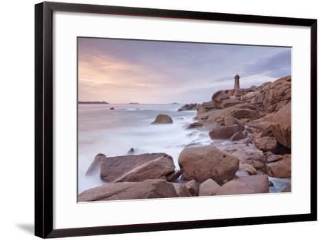 Lighthouse of Meen Ruz, Ploumanach, Cote De Granit Rose, Cotes D'Armor, Brittany, France, Europe-Markus Lange-Framed Art Print