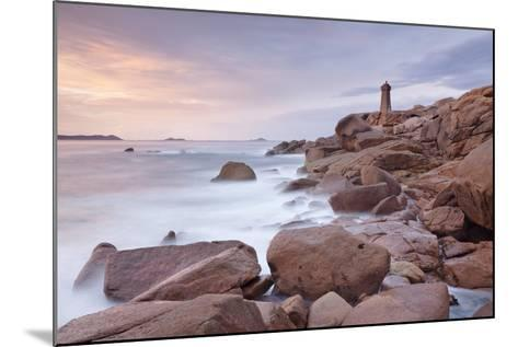 Lighthouse of Meen Ruz, Ploumanach, Cote De Granit Rose, Cotes D'Armor, Brittany, France, Europe-Markus Lange-Mounted Photographic Print
