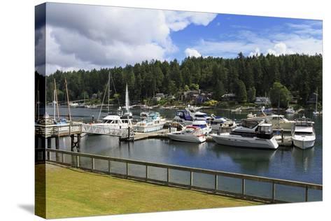 Gig Harbor Marina, Tacoma, Washington State, United States of America, North America-Richard Cummins-Stretched Canvas Print