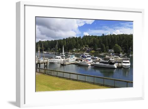 Gig Harbor Marina, Tacoma, Washington State, United States of America, North America-Richard Cummins-Framed Art Print