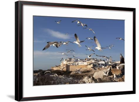 View to the Ramparts and Medina with Seagulls-Stuart Black-Framed Art Print