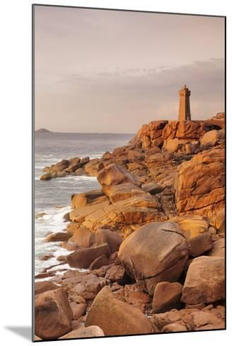 Lighthouse of Meen Ruz, Ploumanach, Cote De Granit Rose, Cotes D'Armor, Brittany, France, Europe-Markus Lange-Mounted Photographic Print