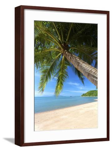 Palm Trees Overhanging Bangrak Beach, Koh Samui, Thailand, Southeast Asia, Asia-Lee Frost-Framed Art Print