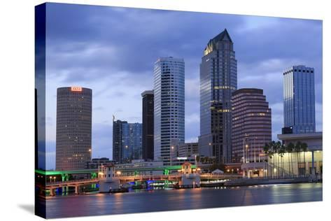 Tampa Skyline, Florida, United States of America, North America-Richard Cummins-Stretched Canvas Print