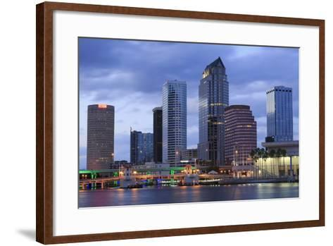 Tampa Skyline, Florida, United States of America, North America-Richard Cummins-Framed Art Print