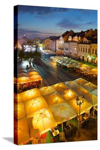 Market Square at Dusk, Old Town, Rzeszow, Poland, Europe-Frank Fell-Stretched Canvas Print