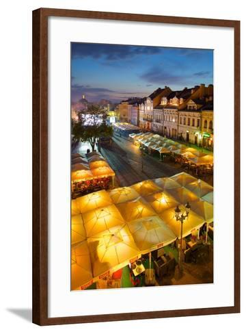 Market Square at Dusk, Old Town, Rzeszow, Poland, Europe-Frank Fell-Framed Art Print