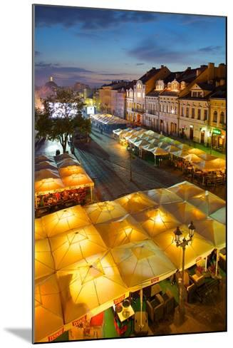 Market Square at Dusk, Old Town, Rzeszow, Poland, Europe-Frank Fell-Mounted Photographic Print
