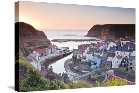 The Fishing Village of Staithes in the North York Moors-Julian Elliott-Stretched Canvas Print