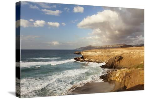 Sunset at Playa Del Viejo Rey, La Pared, Fuerteventura, Canary Islands, Spain, Atlantic, Europe-Markus Lange-Stretched Canvas Print