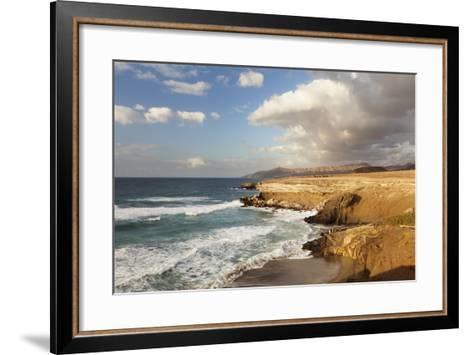 Sunset at Playa Del Viejo Rey, La Pared, Fuerteventura, Canary Islands, Spain, Atlantic, Europe-Markus Lange-Framed Art Print