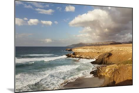 Sunset at Playa Del Viejo Rey, La Pared, Fuerteventura, Canary Islands, Spain, Atlantic, Europe-Markus Lange-Mounted Photographic Print
