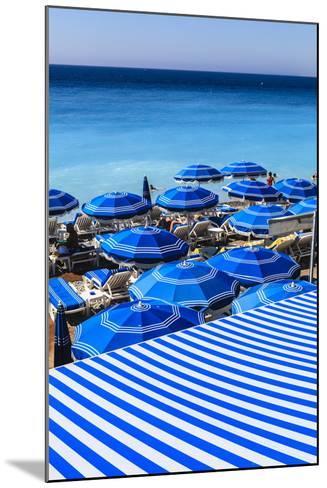 Beach Parasols, Nice, Alpes Maritimes, Provence, Cote D'Azur, French Riviera, France, Europe-Amanda Hall-Mounted Photographic Print
