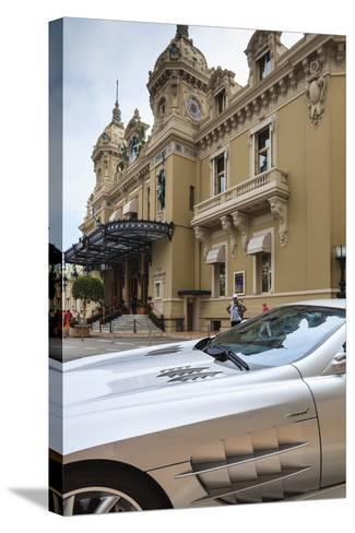 Exotic Sports Car Outside Casino De Monte-Carlo, Monaco, Europe-Amanda Hall-Stretched Canvas Print