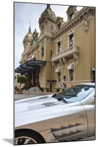Exotic Sports Car Outside Casino De Monte-Carlo, Monaco, Europe-Amanda Hall-Mounted Photographic Print