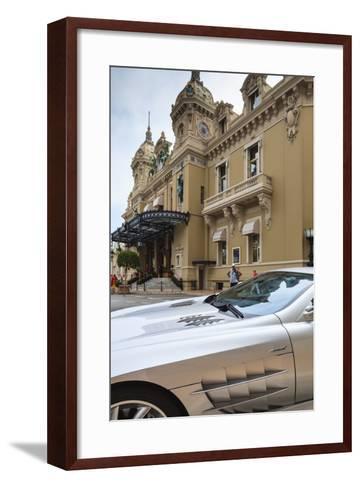 Exotic Sports Car Outside Casino De Monte-Carlo, Monaco, Europe-Amanda Hall-Framed Art Print