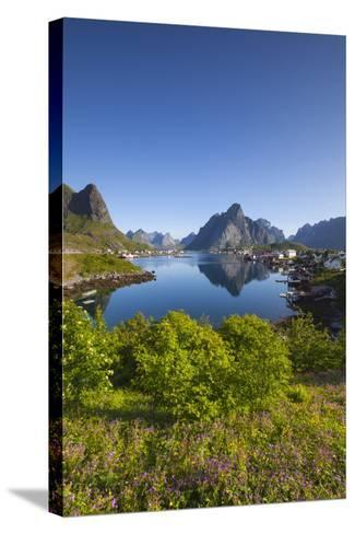 The Picturesque Fishing Village of Reine-Doug Pearson-Stretched Canvas Print