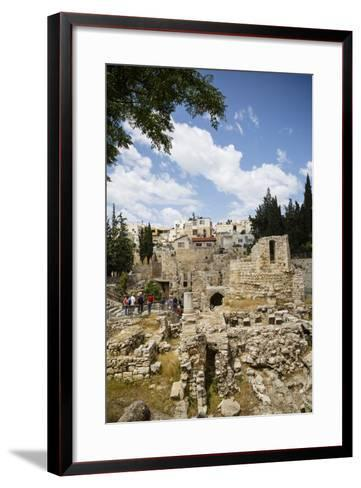 The Pool of Bethesda, the Ruins of the Byzantine Church, Jerusalem, Israel, Middle East-Yadid Levy-Framed Art Print
